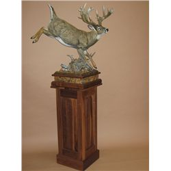 High Tailin It  whitetail deer bronze by Sam Anton Terakedis