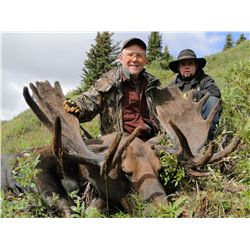 10-day velvet moose hunt for one hunter in British Columbia