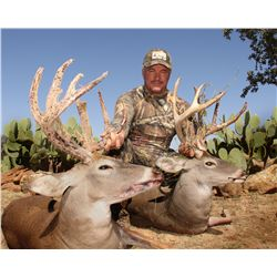 4-day whitetail deer hunt for one hunter in Mingus, Texas - includes trophy fee