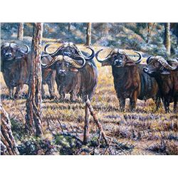 """The Guardians"" oil on canvas by Peter Blackwell"