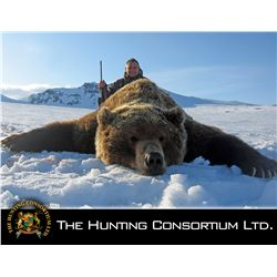 8-day coastal brown bear hunt for one hunter in Russia - includes trophy fee