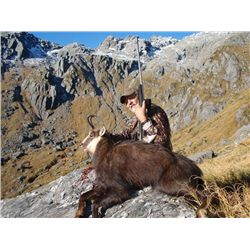 5-day free range red stag, tahr and chamois hunt for two hunters in New Zealand - includes trophy fe