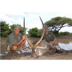 10-day waterbuck hunt for two hunters in South Africa - includes trophy fee