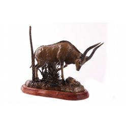 """Nyala"" by Justin Young, an original lost wax bronze"