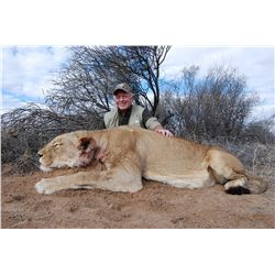 3-day lioness hunt for one hunter in the Northwest Province of South Africa - includes trophy fee