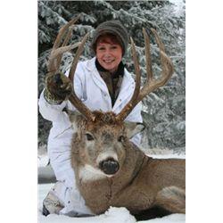 6-day whitetail deer hunt for one hunter in Saskatchewan, Canada