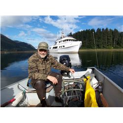 5-day luxury yacht, black bear hunt for one hunter and one non-hunter in Alaska - includes rifle and
