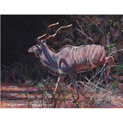 """Impressions of a Kudu"" framed original acrylic by Jan Martin McGuire"
