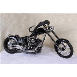 """Black Nasty"" custom Harley-Davidson exotic theme wildlife chopper"