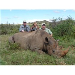 7-day black rhino hunt for one hunter and one non-hunter in the Eastern Cape of South Africa