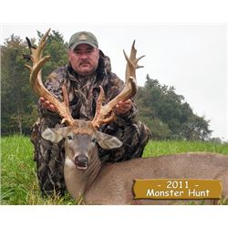 "5-day 250-300"" trophy whitetail deer hunt for two hunters and two non-hunters in Ohio - includes tro"