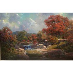 """Falling Water""  original oil on canvas by Kay Walton"