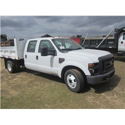 2008 FORD F350 S/A DUMP