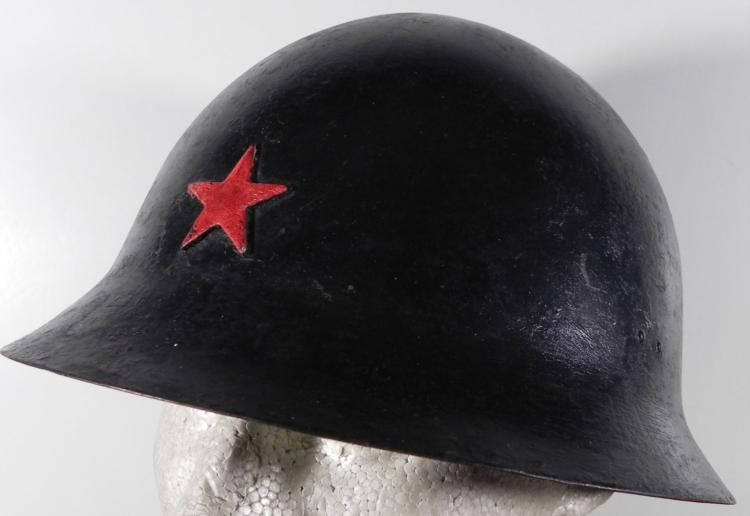 WWII JAPANESE TYPE 90 ORIG ARMY COMBAT HELMET W/ STAR