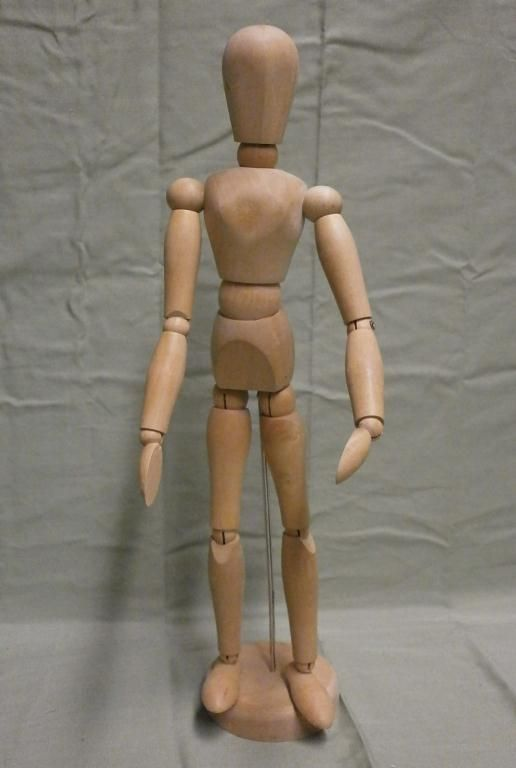 Artist's Articulated Wood Model Mannequin
