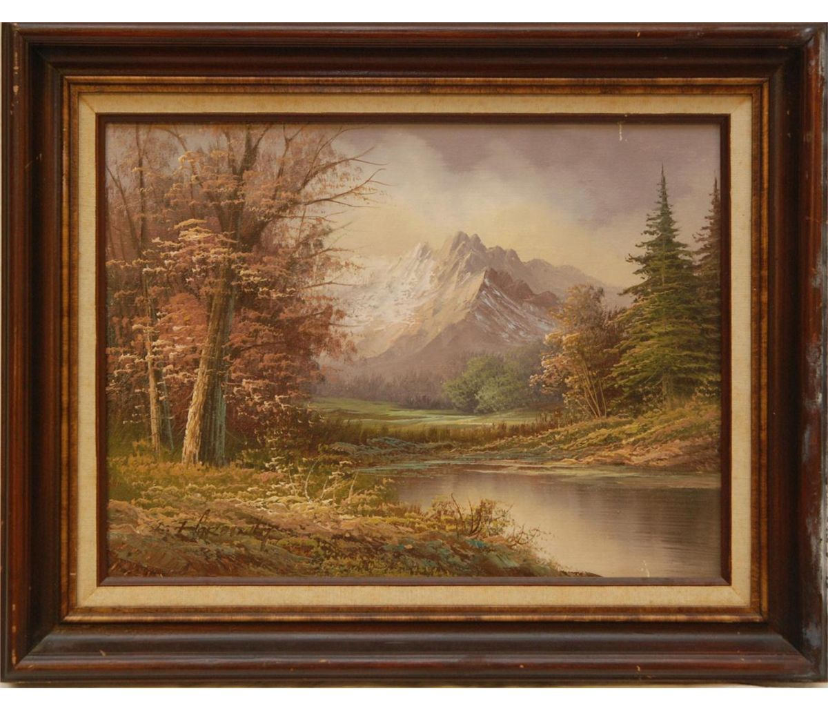 James Harding Landscape Oil Painting On Canvas Large oil painting canvas signed l yunkui land. james harding landscape oil painting on
