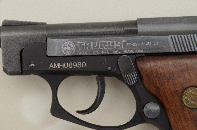 Taurus Model PT-22 DA pistol,  22LR cal , matt black finish