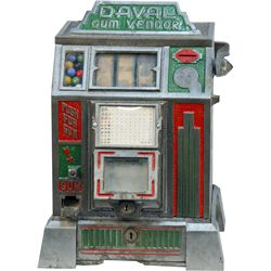 "Coin-Op Daval MFG. Co. ""Gum Vendor"" Fruit 3-Reel Trade"