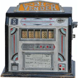 "Coin-Op ""21 Vender"" 5-Reel Countertop Gumball Vendor Tr"