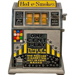 1 Cent Hol-E-Smokes 3-Reel Cigarette Trade Stimulator w