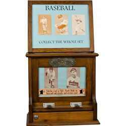 1 Cent Wood Baseball Card Exhibit Vending Machine by Ex