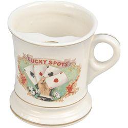 Lucky Spots Gambler's Ceramic Mustache Cup w/ Handle