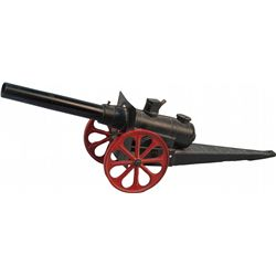 "Mini Cast-Iron Toy Cannon - 16"" barrel"