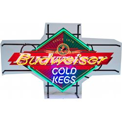 "Budweiser Colorful ""Cold Kegs"" Neon Sign"