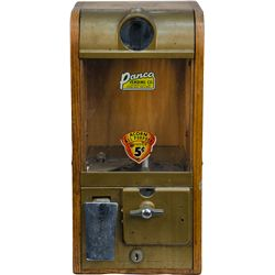 5 Cent Wood Gum Vending Machine by Panco Vending Co.