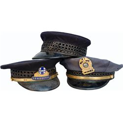 Lot Of 3 Misc. Uniform Hats: