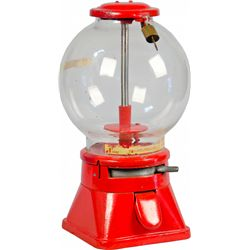 1 Cent Red Australian Countertop Gumball Vending Machin