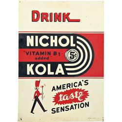 Drink Nichol Kola 5 Cents Tin Sign