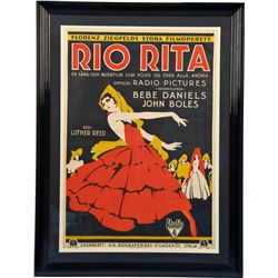 "Large ""Rio Rita"" Radio Pictures Movie Poster Print in F"