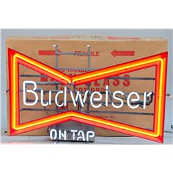 Budweiser On Tap Neon Bowtie Sign by Anheuser-Busch St.