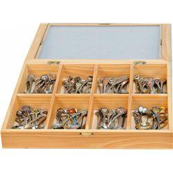 100 Vintage Collectors' Spoons In Wood Display Box