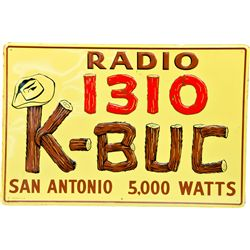 """Radio 1310 K-BUC"" Embossed Self-Framed Tin Sign"