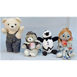 Lot of 5 Advertising Dolls/Stuffed Animals: