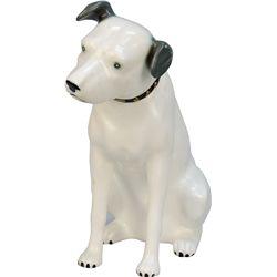 "Vintage Resin Mold Figural ""NIPPER"" RCA Dog Statue"