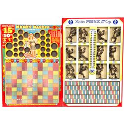 Lot of 2 Risque Punchboards: