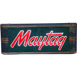 Maytag Light Up Curved Box Sign c1948 By Harnisfager