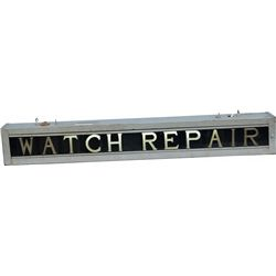 "Double-Sided Light-Up ""Watch Repair"" Metal Box Hanging"