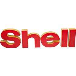 Shell Letters Light-Up Sign