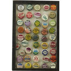 Soda Bottle Cap Collection of 45 Caps