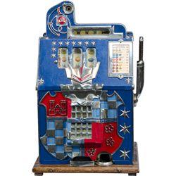 5 Cent Mills Novelty Co. Blue Front Castle Front Slot M