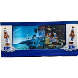 Miller Lite Beer Light-Up Sign w/ Rotating Screens