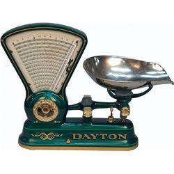 Early Dayton Style 167 3LB Candy Fan Scale w/ Chrome Sc