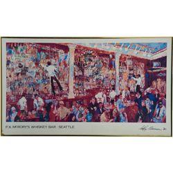 """F.X. McRory's Whiskey Bar - Seattle"" Leroy Neiman Art"