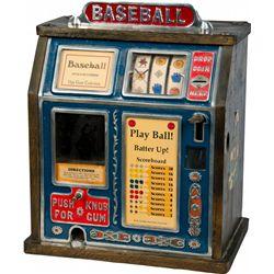 1 Cent Burnham & Mills Baseball 3-Reel Trade Stimulator