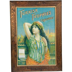 Turkish Trophies Cigarettes Advertisement In Matching W
