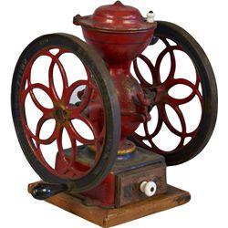 Early Countertop Cast-Iron 2 Wheel Red Enterprise No. 3